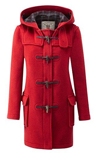 Original Montgomery Dufflecoat Damen mit Büffelhorn Knebel Rot EU 40  Herstellergröße 12 (UK 36) | Bekleidung > Mäntel > Dufflecoats | Original Montgomery
