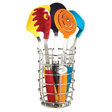 Fiesta 6-Piece Utensil Set with Crock