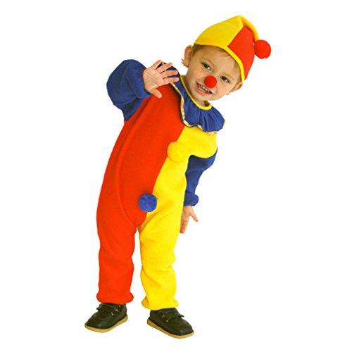 Cloudkids - Disfraz de Payaso Divertido para Niños Niñas Halloween Disfraz Manga Larga Traje para Cosplay Fiesta para Edad 3-4 Años