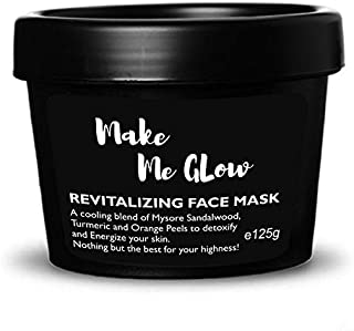 Ryaal Make Me Glow - Face Mask with Mysore Sandalwood, and Turmeric - For Sensitive and Ageing Skin - Brightens Skin and Repairs Sun Damage, Prevents Breakouts and Reduces Acne Scars