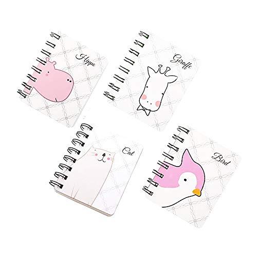4 Pezzi Mini Block Notes, Portatile Mini Taccuino Notebook, per Creare un Elenco, Pianificare un Viaggio, Scrivere Ricordi, Disegnare, Disegnare Ecc