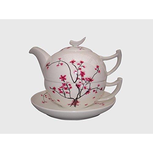 "TeaLogic Tea for one ""Cherry Blossom"" Bone China 4tlg"