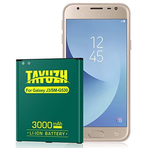 Galaxy J3 Battery,TAYUZH 3000mAh Li-ion Replacement Battery for Galaxy J3 J320A J320V J320F J320P J327A J327P Galaxy On5 EB-BG530BBU EB-BG530BBE | Galaxy Grand Prime SM-G530 Battery[24 Month Warranty]