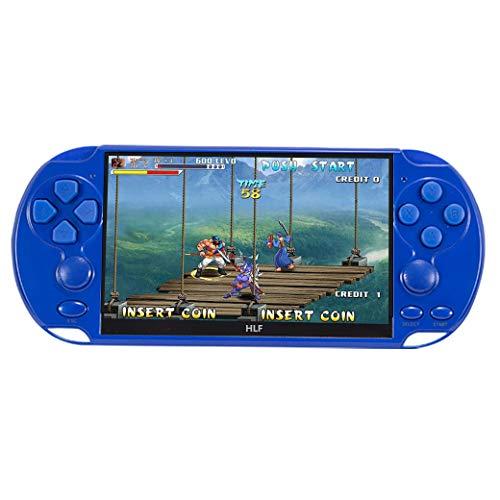 5,1-Zoll-Multifunktions-Retro-Spielekonsole Handheld-Spielekonsole 9600-Spiele unterstützen Arcade/cps/neogeo/fc/sfc/gba/gbc/gb/sega Emulator-Spiele können Lithium-Batterie archiviert werden (Blau)