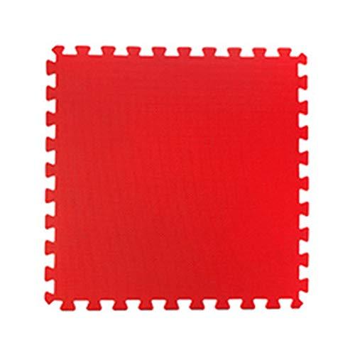 WZHIJUN Tapis de jeu Mousse Antidérapant Bébé Tapis Rampant Enfant Épissure Tapis 50x50x2cm 10 Couleurs (Color : Red, Size : 15pcs Pack)