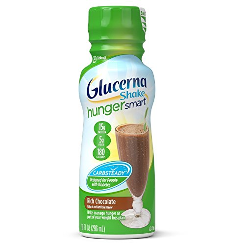 Glucerna Hunger Smart Shake, Rich Chocolate, 10 Ounce Bottles, 12 count