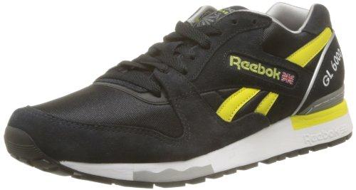 Reebok Herren Gl 6000 Athletic Low-top, Schwarz - Noir (Black/White/Grey/Pepper/Silv), 41 EU