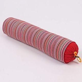YYBF Almohada de Trigo sarraceno Gruesa de Rayas Almohada de Trigo sarraceno Caramelo Caramelo Caramelo Almohada cilíndrica se Puede Desmontar 1 jin Rojo