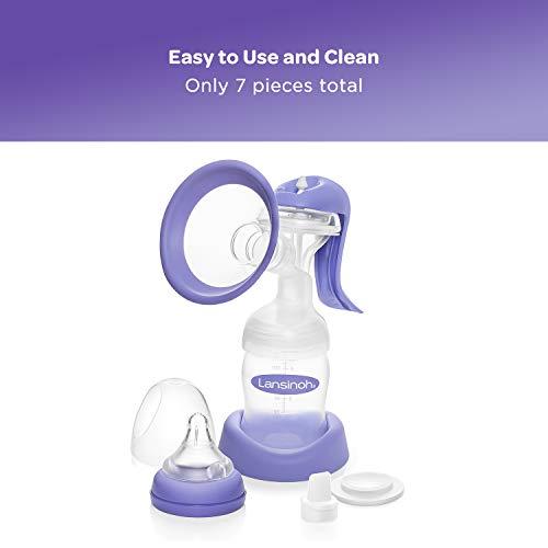 Lansinoh Manual Breast Pump, Hand Pump for Breastfeeding