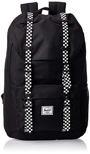 Herschel Kids' Little America Laptop Backpack, Black/Checkerboard Rubber, Youth 18.0L