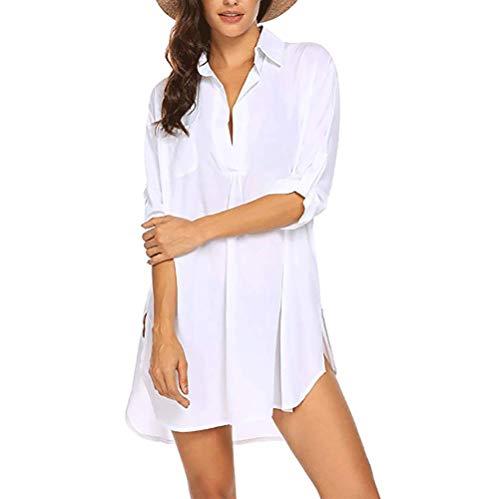 DURINM Vestido de Playa Vestido Suelto de Bikini Mujer Ropa de Baño Playa Traje de Baño Vestido de Bikini Cover up y Pareos