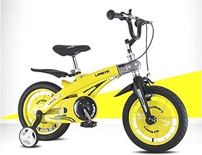 TQJ Cochecito de Bebe Ligero Bicicleta for niños convenientes, 12/14/16 Pulgadas Boy Baby by Bycycle Niño 2-3-6 años de Edad niña Aleación de magnesio Carro de bebé cómodo