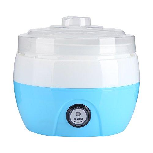 Yogurteras Electrica Automático Maquina para Hacer Yogur y Helado, Capacidad 1 Litro(Azul)