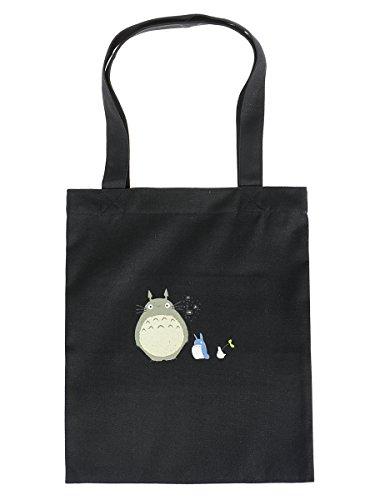 CoolChange Totoro Stoffbeutel | Farbe: Schwarz