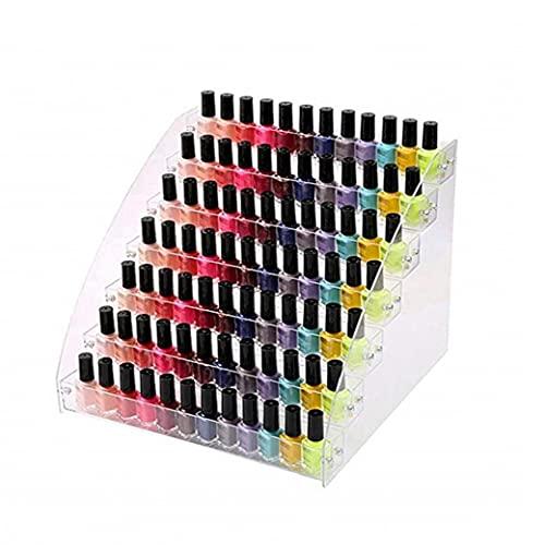 Hainice Esmalte de uñas del Soporte de exhibición de acrílico del Clavo Estante Polaco Soporte de la Botella de Aceite Organizador de la joyería Maquillaje Organizador para Botellas de 7 Plantas