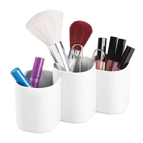 mDesign praktischer Kosmetik Organizer – dekorative Kosmetik Aufbewahrungsbox für Pinsel und...