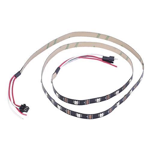 Heaviesk Luces de Tira de la Secuencia del Alto Brillo WS2812B 5050 RGB 30 LED 1M direccionable direccionable Individual Decoración casera Flexible