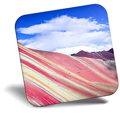 Destination Vinyl ltd Impresionante Iman - Regalo Fresco del Arco Iris Montaña Perú Travel # 2254