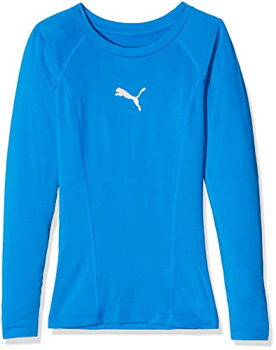 PUMA LIGA Baselayer Tee LS Jr T-Shirt, Unisex niños, Electric Blue Lemonade, 128