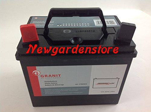 Batterie/Starterbatterie Elektro Aufsitzmäher Rasenmäher 12V 30Ah 63034SX +