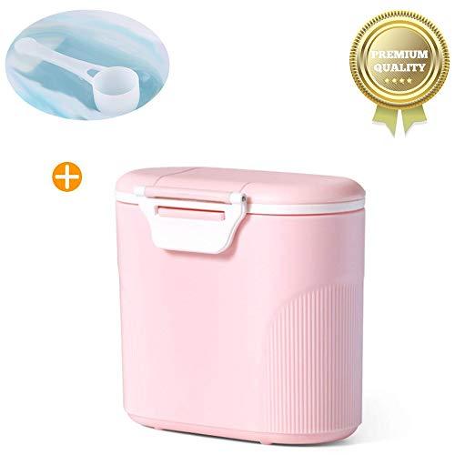 Sunshine smile milchpulver aufbewahrung,Milchpulver-Spender,Tragbarer Baby Milchpulver Behälter,milchpulver container mit Gleichmacher 600ML/280ML (Pink (large))