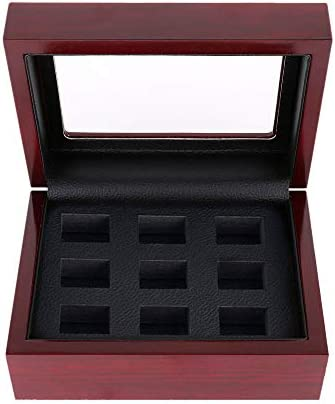 Wooden Championship Ring Storage Box Heavy Porous Display Case Jewelry Organizer Without Ring product image