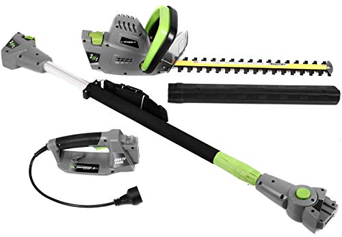 Earthwise CVPH43018 Corded 4.5 Amp 2-in-1 Convertible Pole Hedge Trimmer (Renewed)