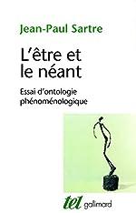 L'être et le néant - Essai d'ontologie phénoménologique de Jean-Paul Sartre