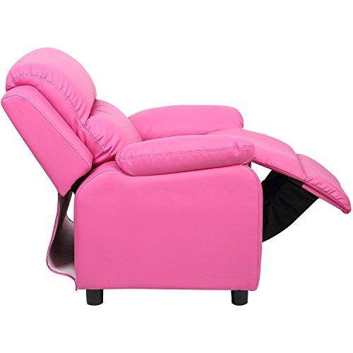 Merax Kids Recliner Chair Sofa PU Leather Rose