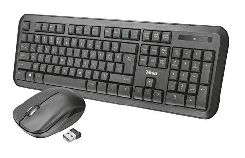 Trust Nova Wireless Tastatur und Maus Set QWERTZ Deutsches Tastaturlayout schwarz