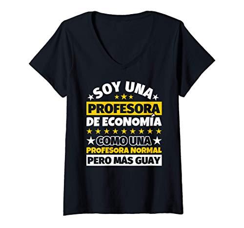 Mujer Profesora de Economía Regalo Camiseta Cuello V