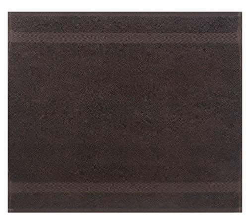 Betz Serviette débarbouillette Lavette Taille 30 x 30 cm 100% Coton Premium Couleur Marron foncé