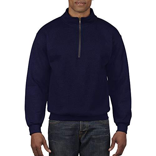 Gildan - Sweatshirt Vintage à Fermeture zippée - Femme (2XL) (Bleu Marine)