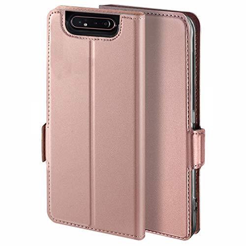 YATWIN Handyhülle für Samsung Galaxy A80 Hülle Premium Leder Flip Hülle Schutzhülle für Samsung Galaxy A80 Tasche, Rose Gold