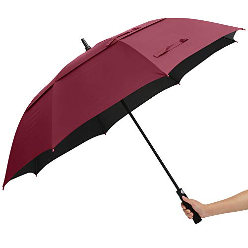 Best Deals! ABCCANOPY Golf Umbrella Double Canopy Large Windproof Waterproof Sunproof Fabric UPF 50+...