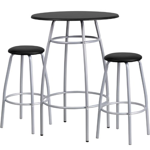 Flash Furniture Bar Height Table Set with Padded Stools
