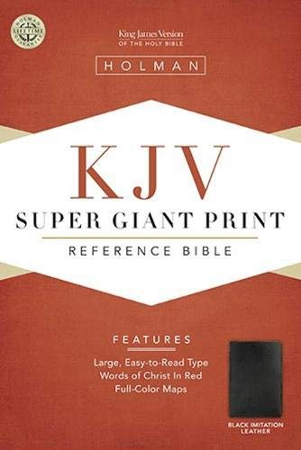 KJV Super Giant Print Reference Bible, Black Simulated Leather (King James Version)