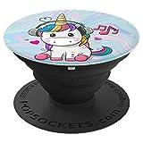 Cute Sitting Unicorn Music Headphones Unicorn Swirl