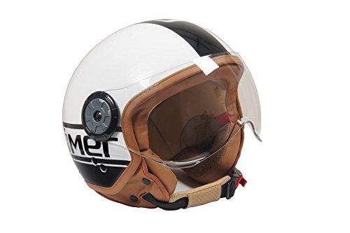 Römer Helmets Römer Jethelm Fight Weiß/Schwarz Glänzend, Weiß, Größe XL