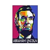 QWSDF Abraham Lincoln Kunstwerk auf Leinwand, Poster,