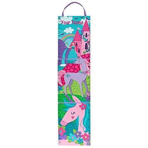 Personalized Princess Unicorn Keepsake Milestone Measuring Growth Chart for Girls with Custom Name - 5 Feet