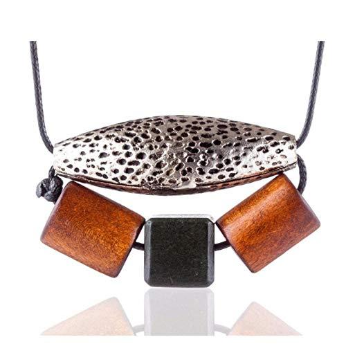 Lege Vintage Sieraden Hout Kralen Vrouwen kettingen & hangers Choker Accessoires Sieraden Gift