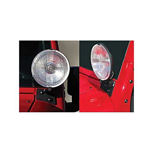 Support De Phare Sur Baie Pare Brise Noir Jeep Wrangler Jk
