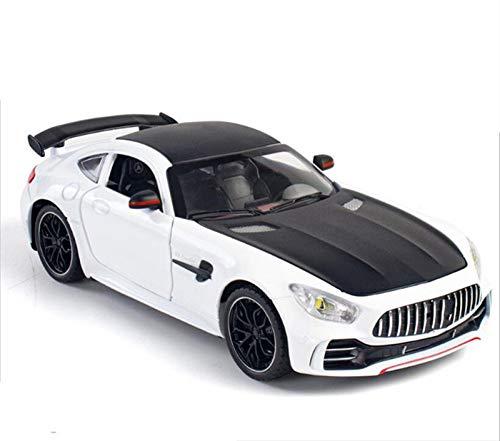 Modelo Coche Aleación Escala 1:24 Para AMG Para GTR Modelo Aleación Coche Metal Modelo De Coche Deportivo Puertas Abiertas Juguetes Luz Sonido Regalos Cumpleaños Para Niños Coche Juguete para Niños