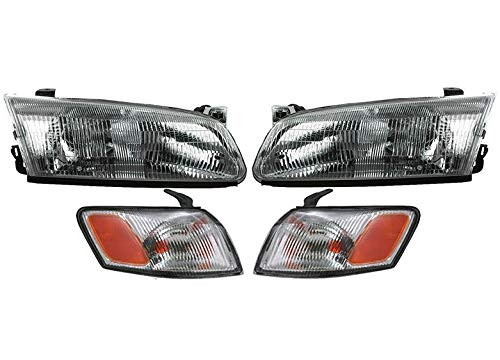 APA Headlight Signal Lamp Replacement Set for 1997-1999 Camry Left Right Pair