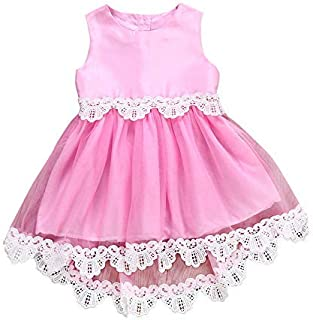 Ashtray - Toddler Infant Baby Girl Dress Lace-Trimmed Sleeveless Dress Party Outfits