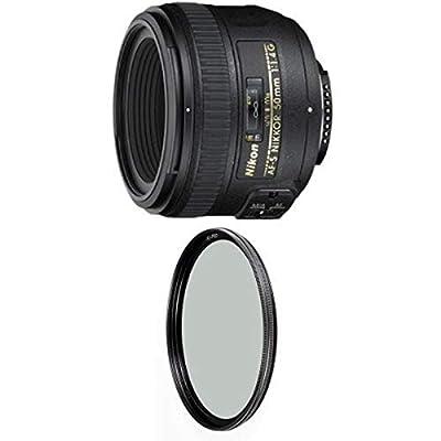 Nikon 50mm f/1.4G SIC SW Prime Auto Focus-S Nikkor Lens for Nikon Digital SLR Cameras w/ B+W 58mm XS-Pro HTC Kaesemann Circular Polarizer from