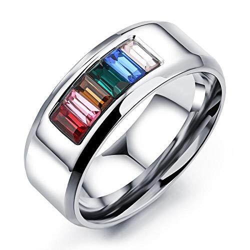 JJZHY Regalo Elegante dei Gioielli LGBT del Bicchierino dell Arco di Colore dell Arco di Sei Colori Dell Arcobaleno di Colore,Come Mostrato,U.S9