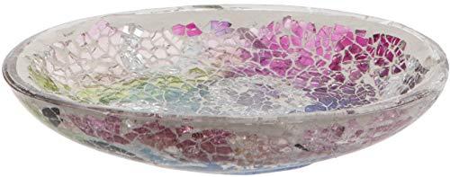 Maturi Seifenschale aus zerbrochenem Glas mit Mosaik, Mehrfarbig, 15 x 9.5cm