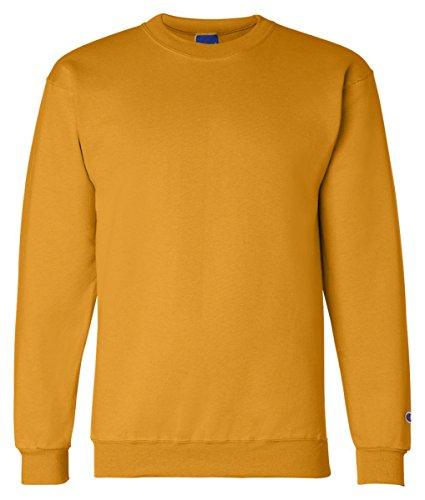 Champion Adult 50/50 Crewneck Sweatshirt, Gold - Size X-Large